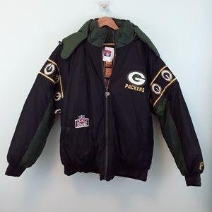 NWT Greenbay Packers Puffer Reversible Jacket